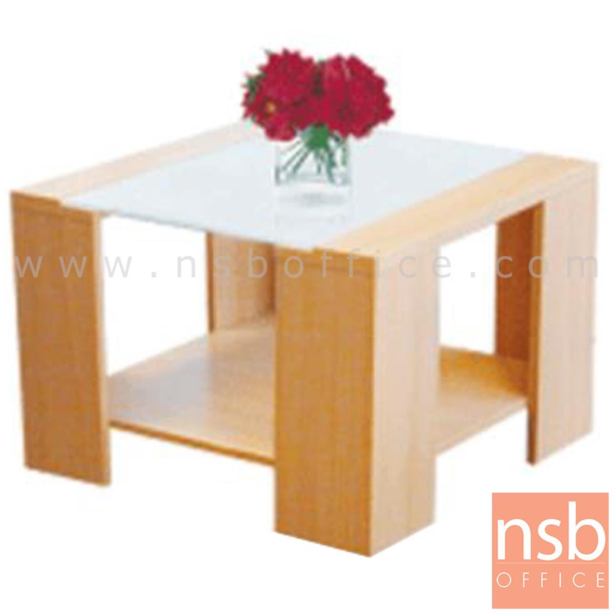 โต๊ะกลางกระจก  รุ่น Grojband (กรอจแบนด์) ขนาด 60W cm. โครงไม้