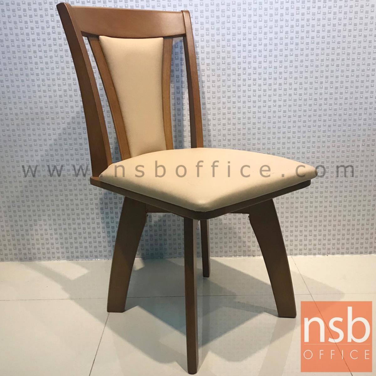 เก้าอี้ไม้ที่นั่งหนังเทียม รุ่น NSB-42 ขนาด 42W cm.