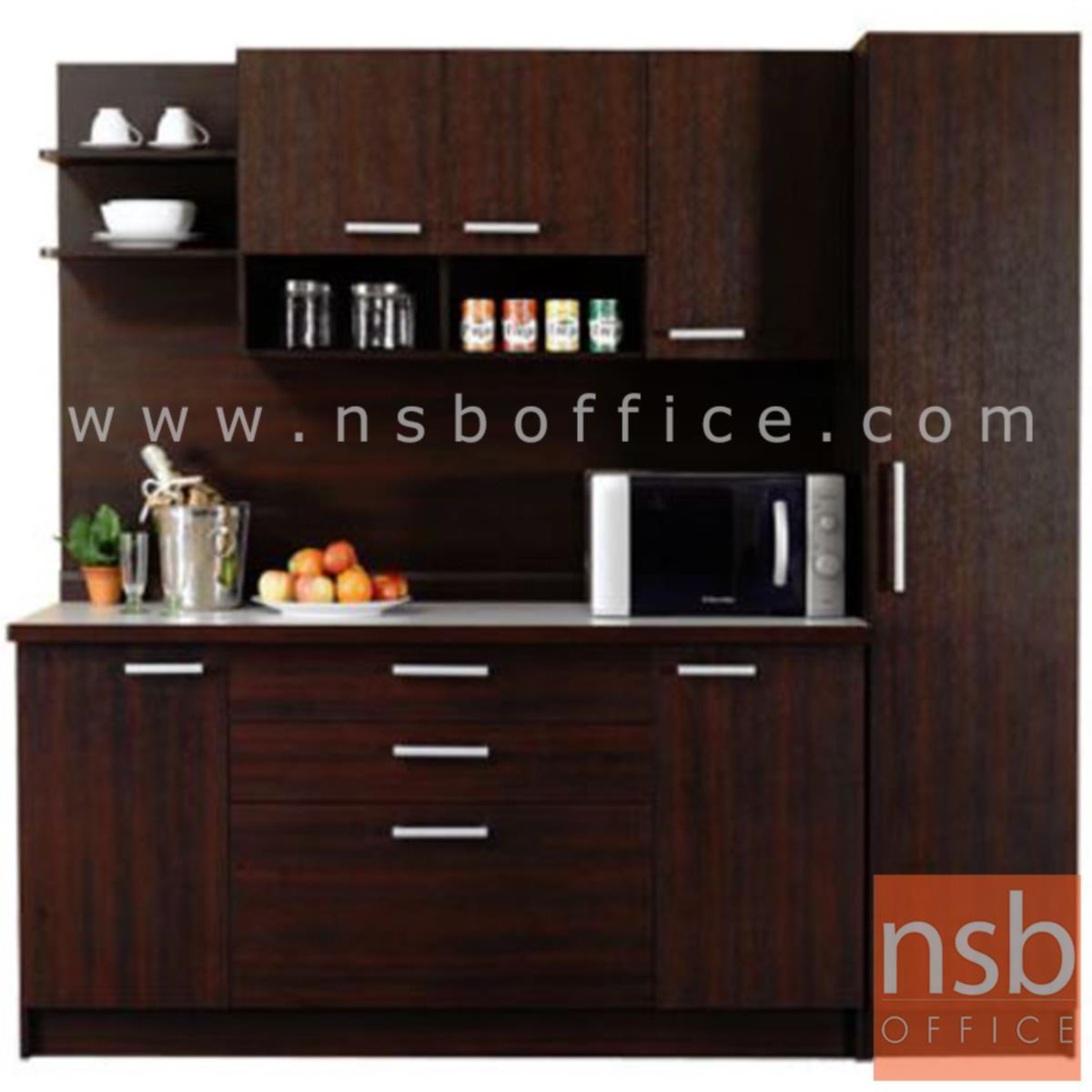 G10A010:ชุดตู้ครัวหน้าเรียบ 200W cm. ER-0116,ER-0114  พร้อมตู้ลอย