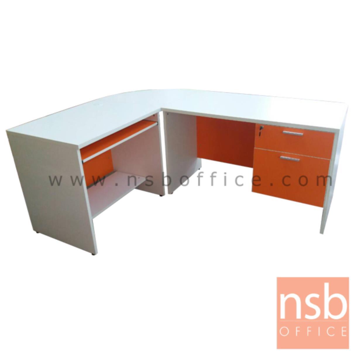 A20A015:ชุดโต๊ะทำงานตัวแอลสีสัน  รุ่น MT-TABLE-L  ขนาด 180W cm.