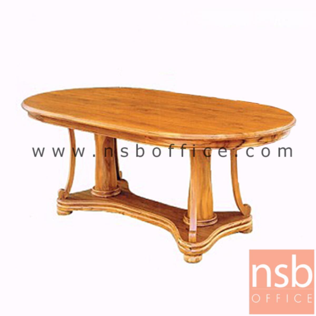 B13A191:โต๊ะรับประทานอาหารหน้าไม้สัก  ขนาด 6 ฟุต