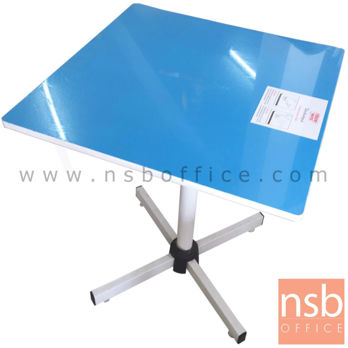 L10A176:โต๊ะพับอเนกประสงค์  ขนาด 60W*73H cm. ขาเหล็ก