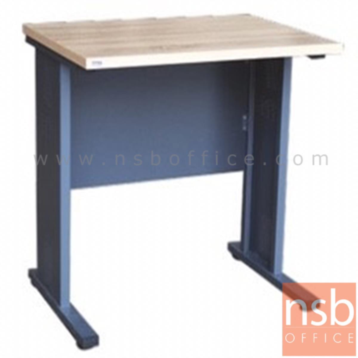 A10A063:โต๊ะทำงาน  รุ่น Carrow (แคร์โรว์) ขนาด 80W cm. ขาเหล็ก สีโซลิคตัดเทาเข้มหรือสีมูจิตัดเทาเข้ม
