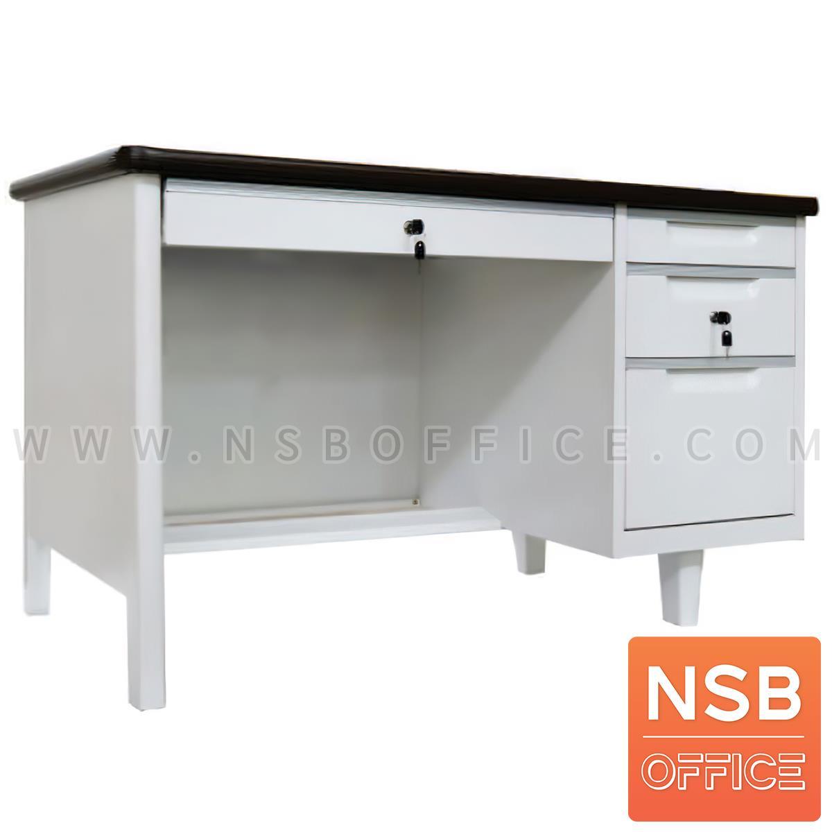 E02A057:โต๊ะทำงานหน้าเหล็ก 3 ลิ้นชัก รุ่น Mixmaster (มิกซ์มาสเตอร์) ขนาด 122.7W ซม. (4 ฟุต)
