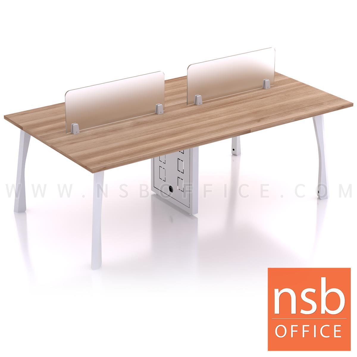 โต๊ะทำงานกลุ่ม รุ่น Shinzo (ชินโซ) ขนาด 240W cm พร้อมมินิสกรีน ขาเหล็ก