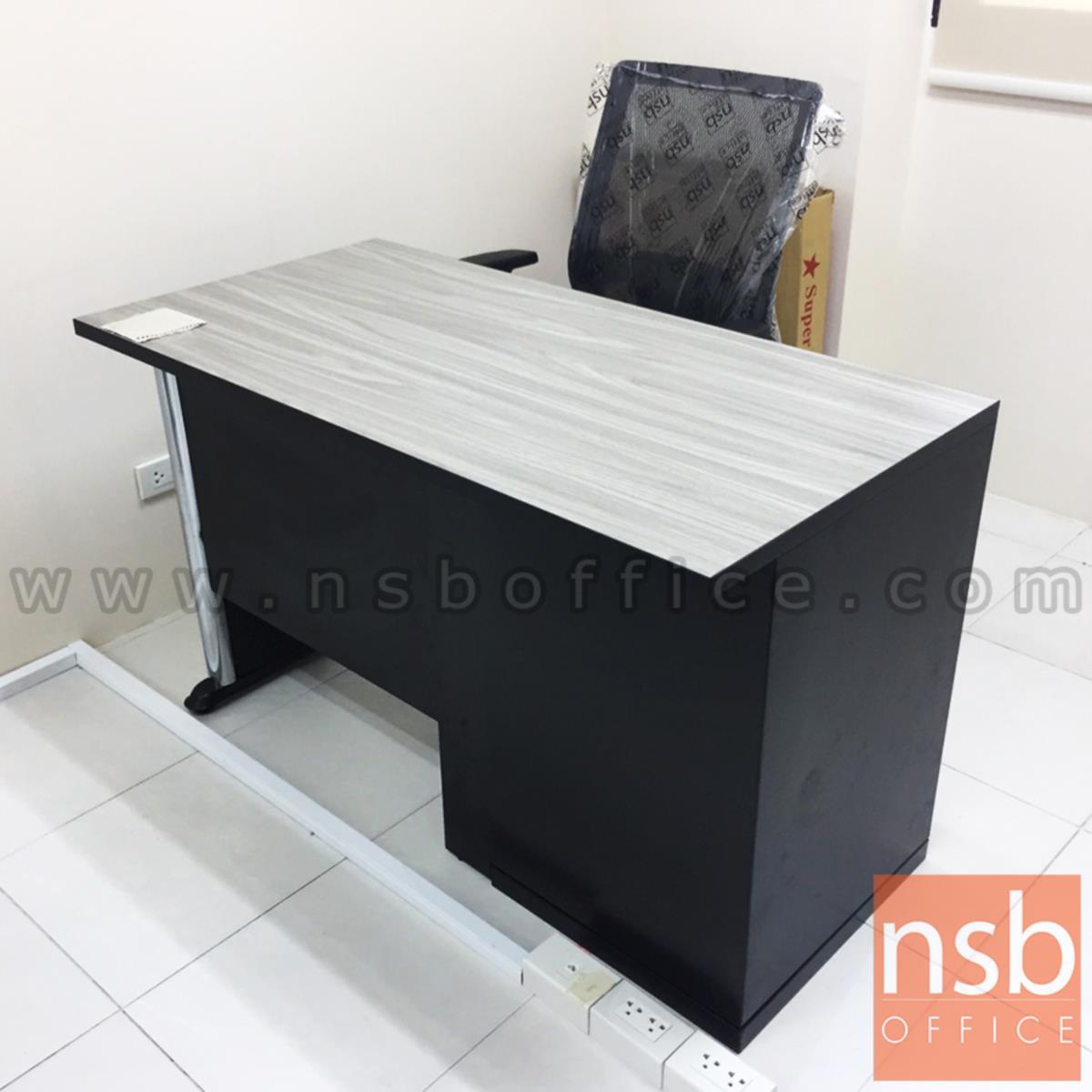 โต๊ะทำงาน 3 ลิ้นชัก มีบังโป๊  ขนาด 120W ,135W ,150W ,180W cm. ขาเหล็ก
