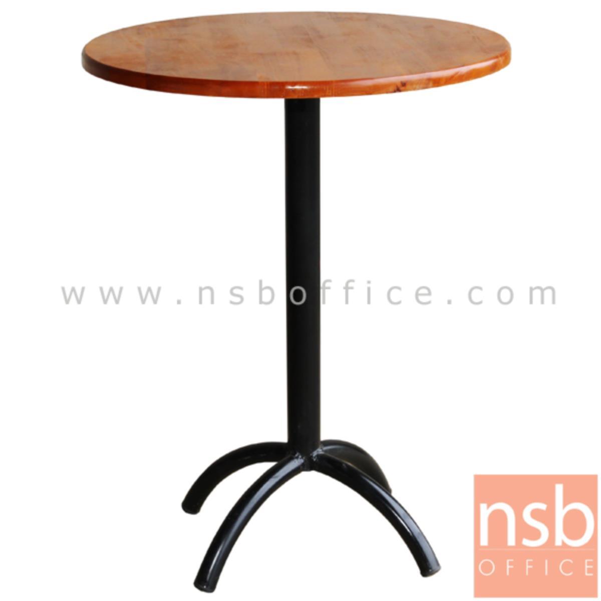 โต๊ะไม้ยางพารา รุ่น Harran (ฮาร์รัน) ขนาด 60Di ,75Di cm. ขาเหล็ก