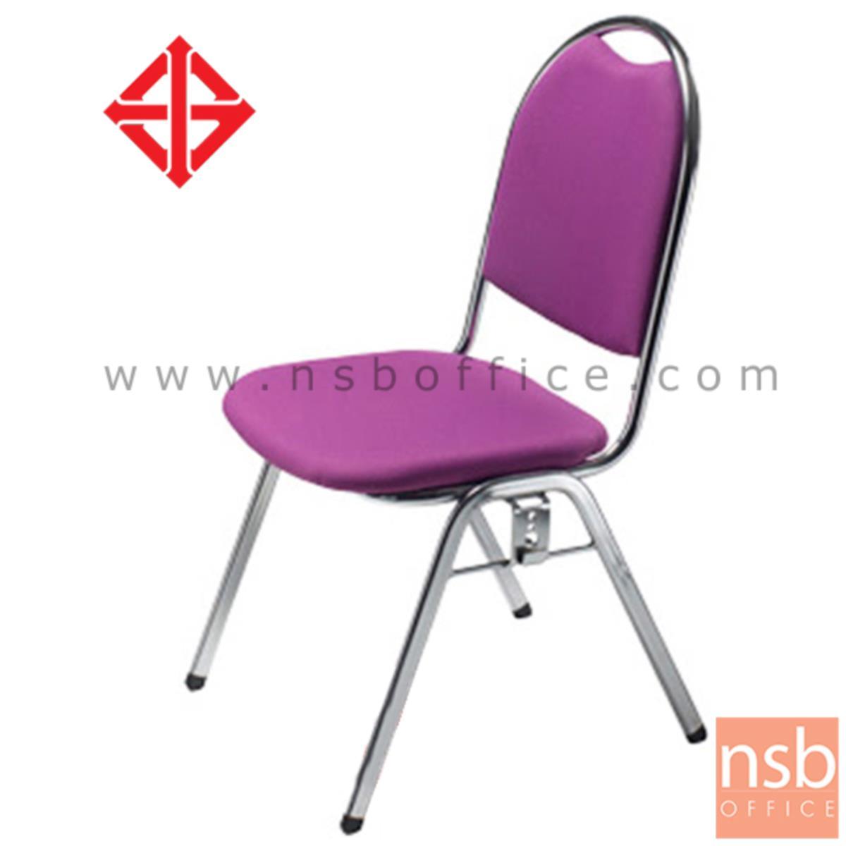 เก้าอี้อเนกประสงค์จัดเลี้ยง  รุ่น LKC-128  ขาเหล็กชุบโครเมี่ยม