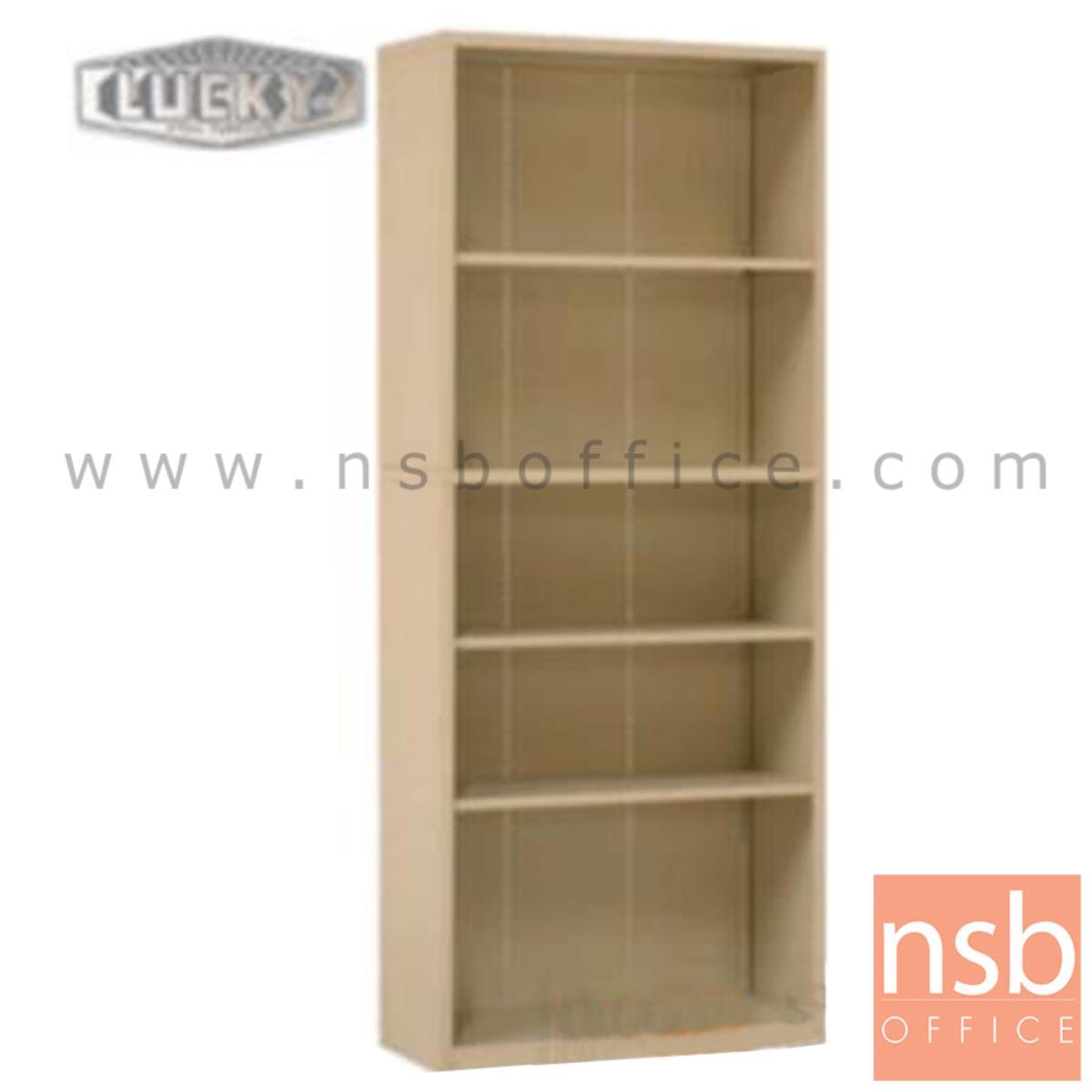 E28A034:ตู้วางหนังสือ 5 ช่องโล่ง 76.2W*32D*182.9H cm. รุ่น LUCKY-SB-3072