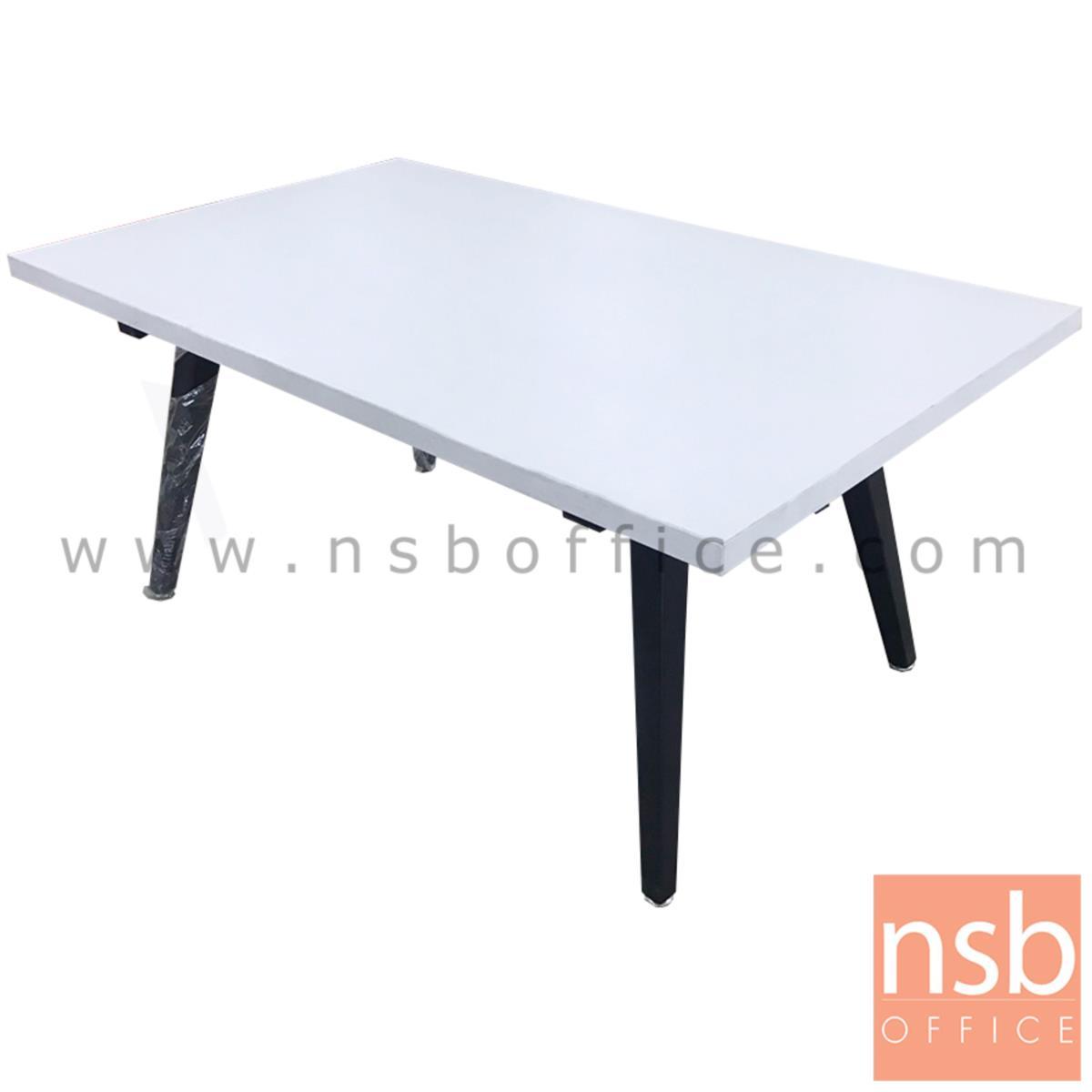 L01A144:โต๊ะกลางเหลี่ยมโมเดิร์นไม้  ขนาด 101W*45H cm. ขาเหล็ก