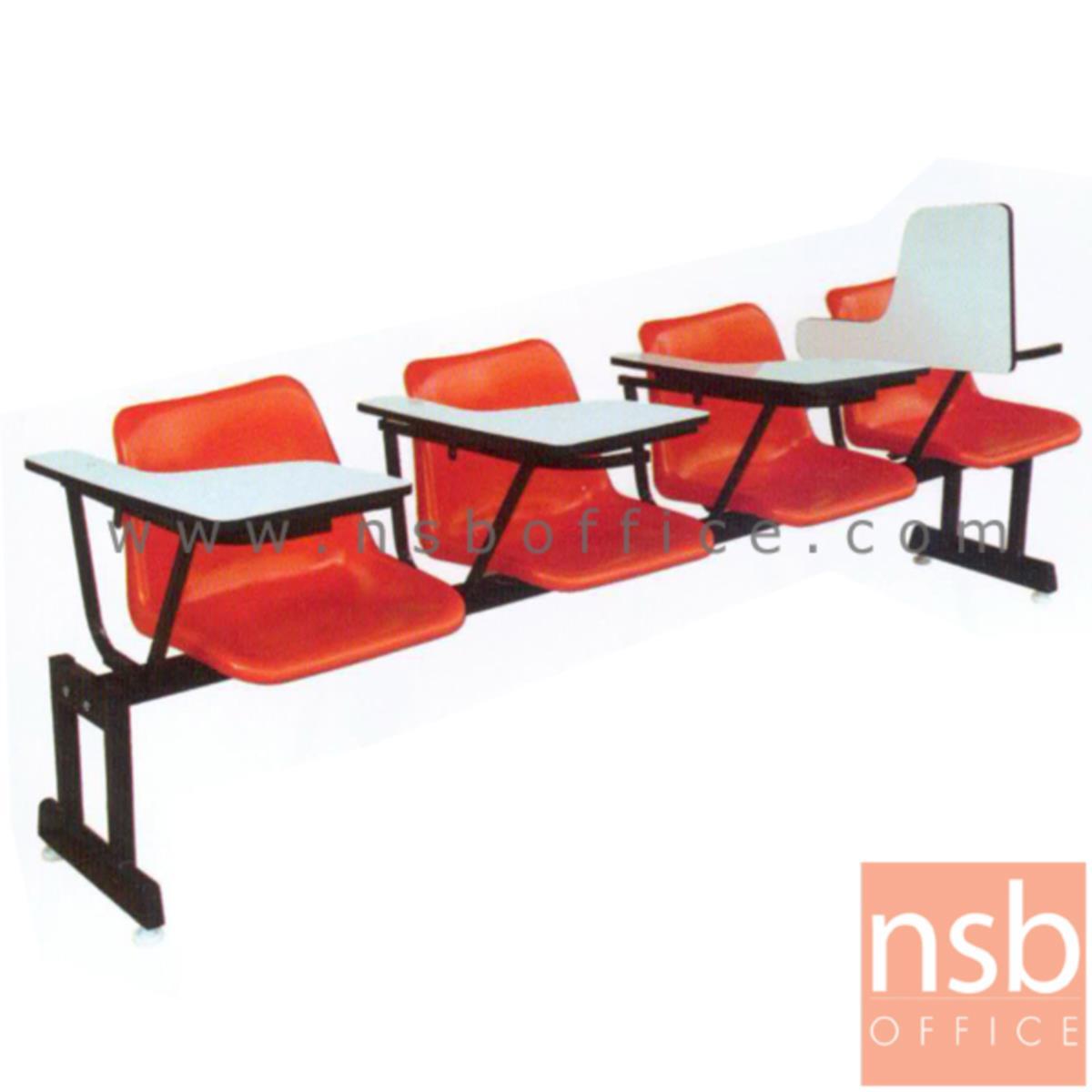 เก้าอี้เลคเชอร์แถวเฟรมโพลี่ รุ่น PC311L 3 และ 4 ที่นั่ง ขาเหล็กเหลี่ยมพ่นสีดำ
