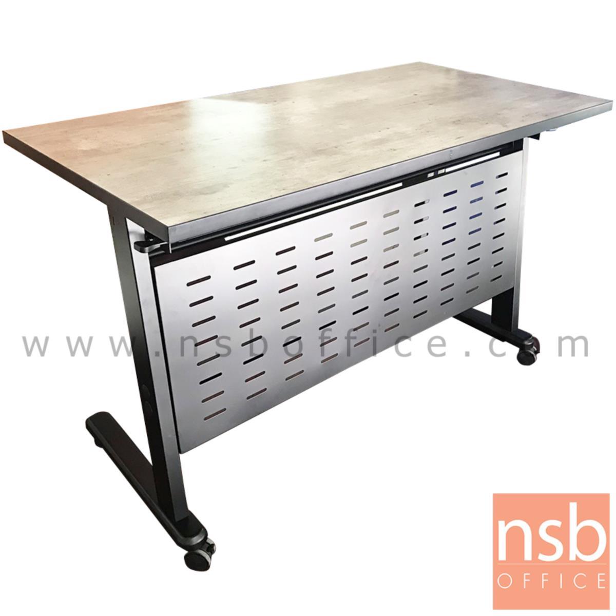 A18A093:โต๊ะพับล้อเลื่อน 120W*60D cm CN-026  พร้อมบังตาเหล็กและที่วางของด้านใต้