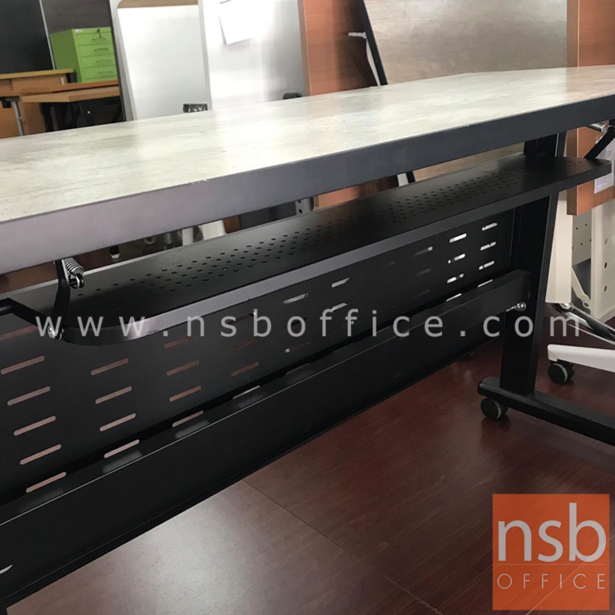 โต๊ะพับล้อเลื่อน 120W*60D cm CN-026  พร้อมบังตาเหล็กและที่วางของด้านใต้