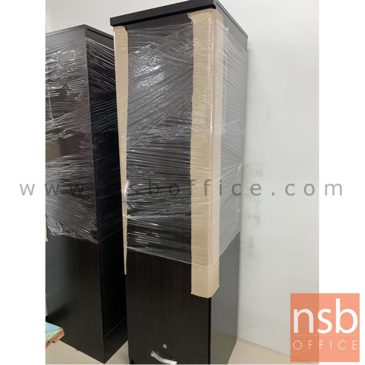 ตู้เสื้อผ้า 1 ประตู 1 ลิ้นชัก 50W*53D*190H cm   สีโซลิต สีสัก สีโอ๊ค