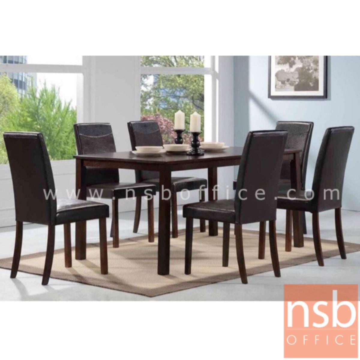 ชุดโต๊ะรับประทานอาหารหน้าไม้ยางพารา 6 ที่นั่ง   พร้อมเก้าอี้