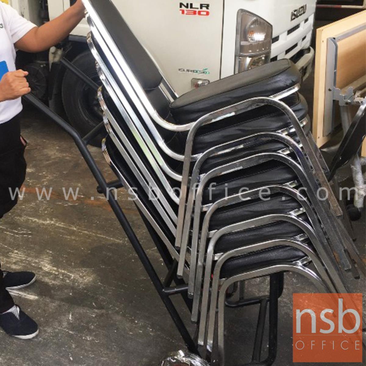 รถเข็นเก้าอี้จัดเลี้ยง มือจับ 2 ข้าง SPP-01 ล้อยาง 8 นิ้ว
