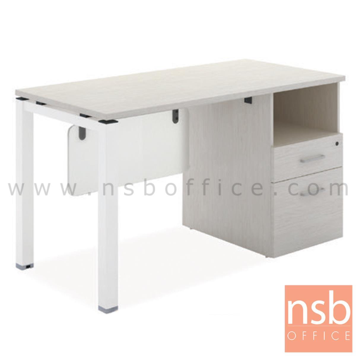 A10A099:โต๊ะทำงาน 2 ลิ้นชัก  รุ่น Minnesota (มินนิโซตา) ขนาด 120W cm. ขาเหล็ก