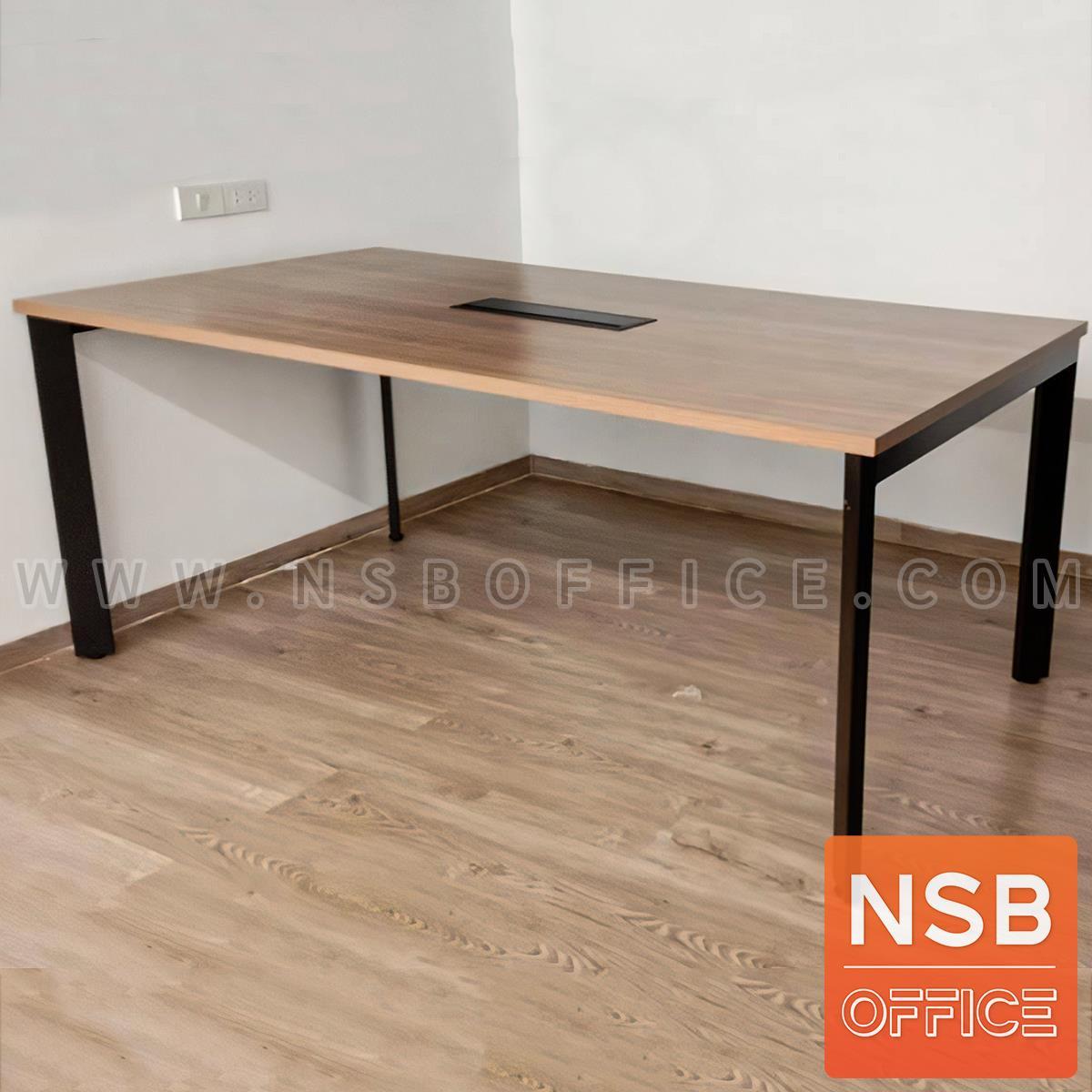 โต๊ะประชุม รุ่น Alisha (อลิชา)  ขาเหล็กทะแยงมุม พิเศษขนาด 3 × 1 นิ้ว