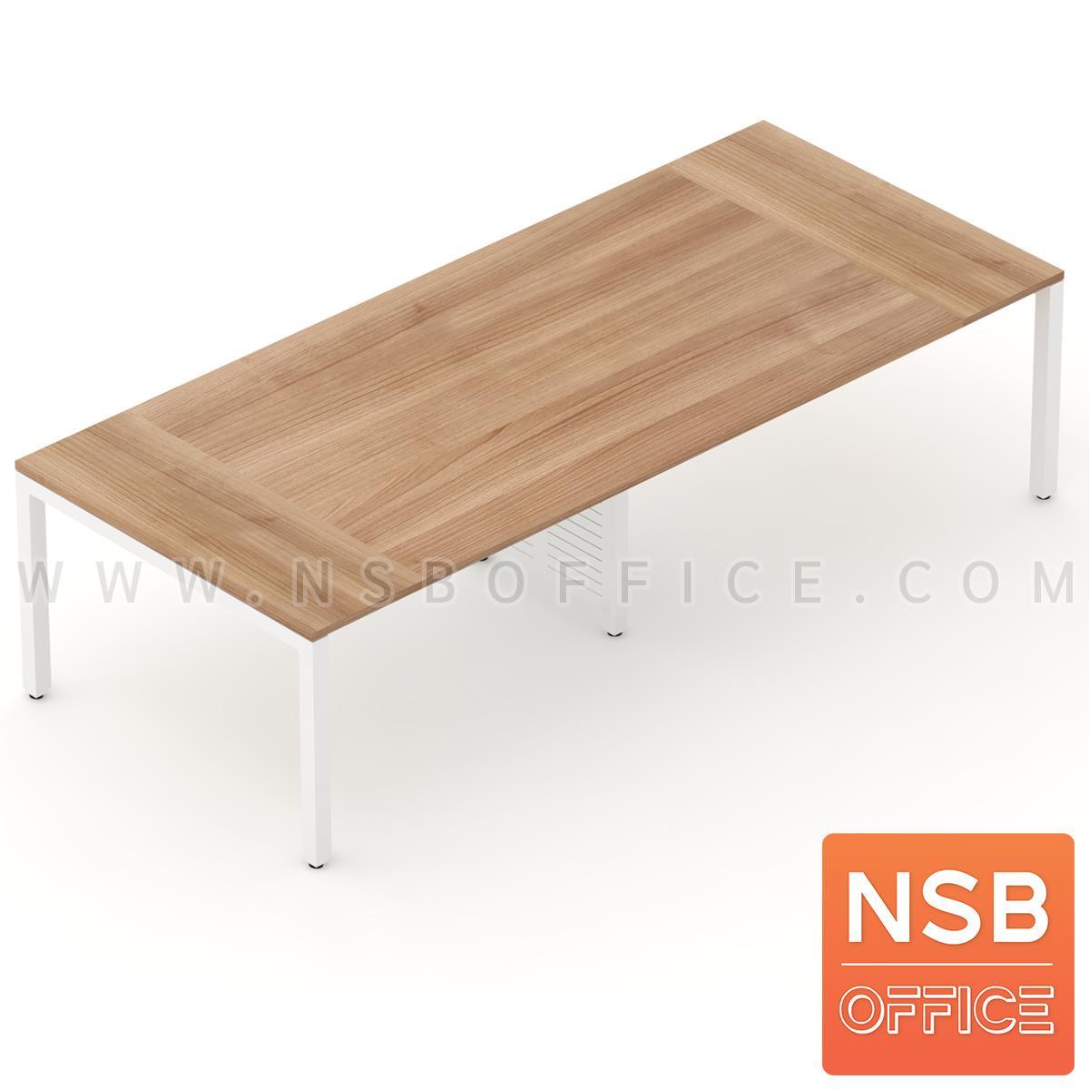 A05A085:โต๊ะประชุมทรงสี่เหลี่ยม 120D cm. รุ่น CONNEXX-021  ขากลางมีกล่องร้อยสาย