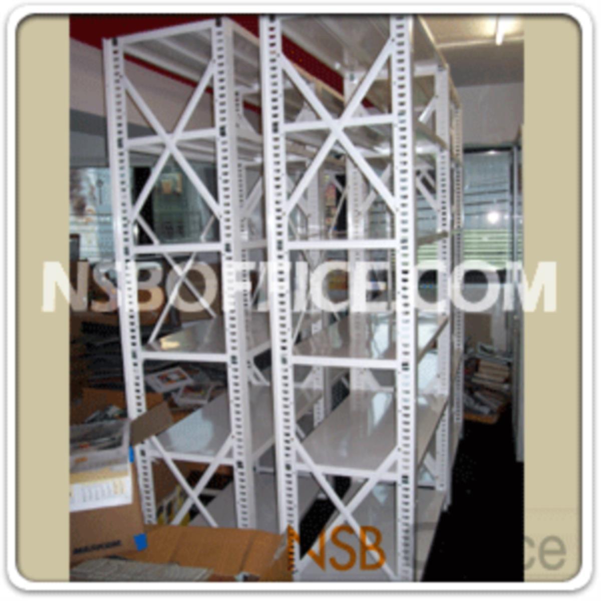 ชั้นเหล็ก MR ขนาด 100W*50D (180H - 240H) cm. ชั้นปรับระดับได้ รับน้ำหนัก 150-200 KG/ชั้น