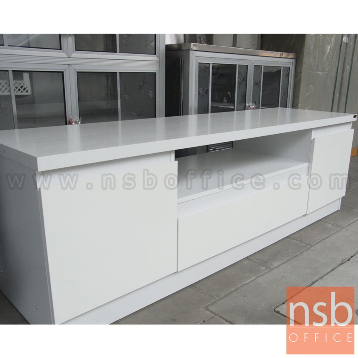 CL30361:ตู้วางทีวีสีขาวล้วน  รุ่น Sanders (แซนเดอร์) ขนาด 160W*50H cm.  เมลามีน