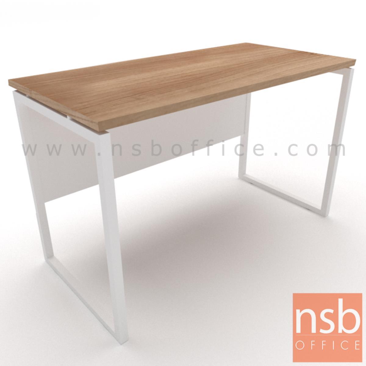 โต๊ะทำงานทรงสี่เหลี่ยม รุ่น Moschino (มอสคิโน่) ขนาด 80W ,120W ,135W, 150W ,160W ,180W cm. ขาเหล็กกล่องพ่นสี