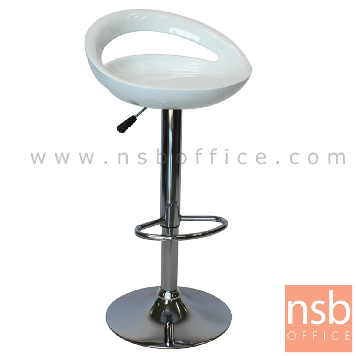 B18A080:เก้าอี้บาร์สูงพลาสติก รุ่น Jupiter (จูปิเตอร์)   ขาโครเมี่ยมฐานจานกลม