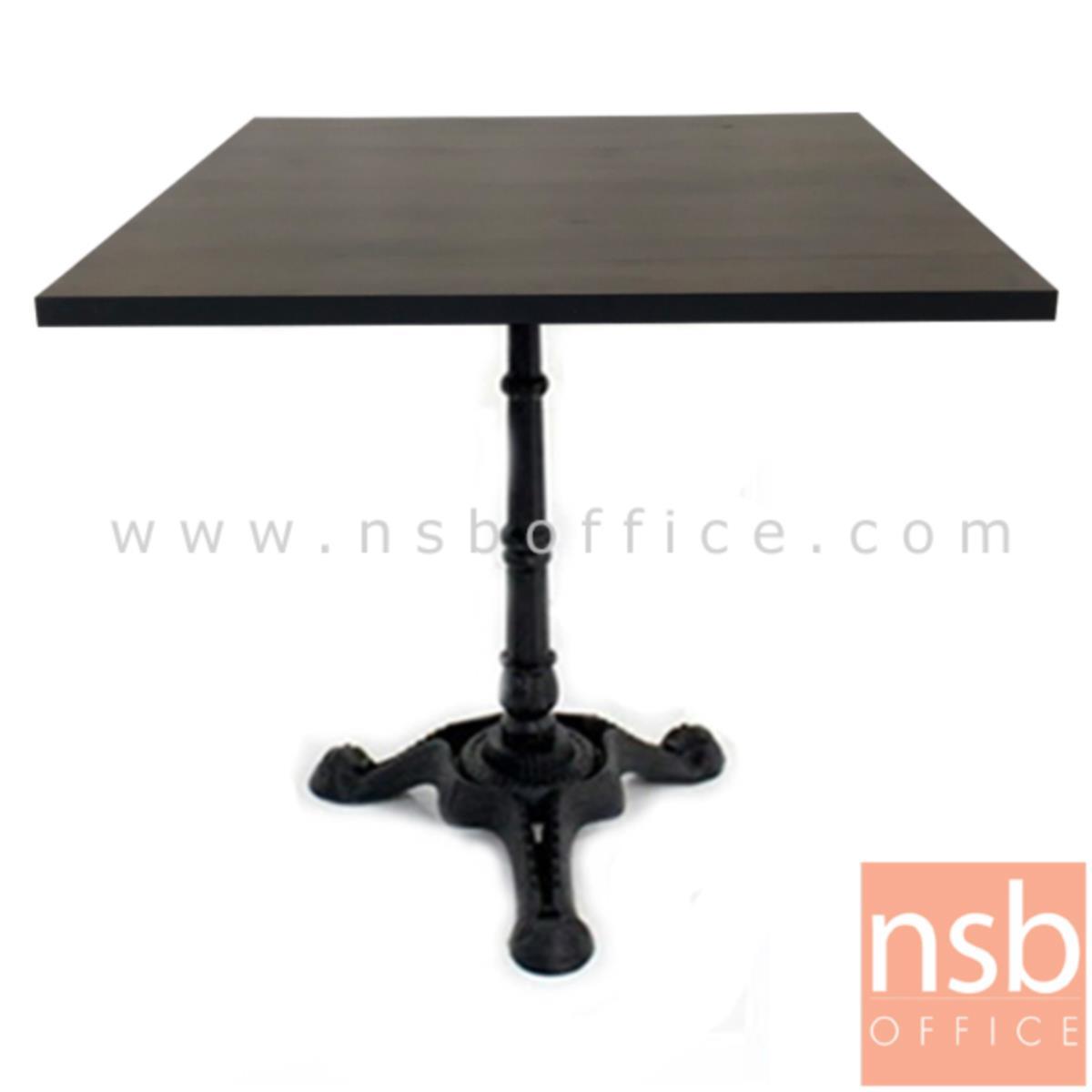A14A170:โต๊ะบาร์ COFFEE รุ่น H-CF23 ขนาด 60W ,70W ,80W ,60Di ,70Di ,80Di cm.   ขาเหล็กฐานสามแฉกสีดำ