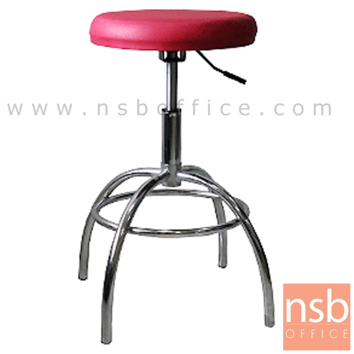 B09A110:เก้าอี้บาร์สตูลที่นั่งกลม รุ่น Calypso (คาลิฟโซ)  โช๊คแก๊ส ขาเหล็กชุบโครเมี่ยม