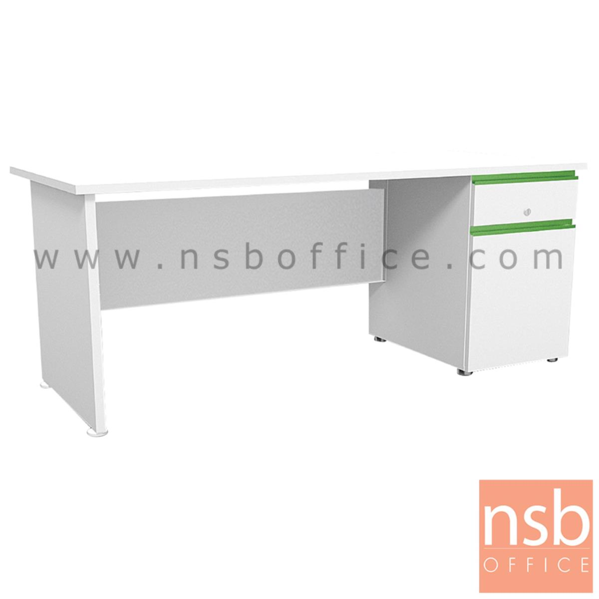 โต๊ะทำงานสีสัน 1 ลิ้นชัก 1 บานเปิด  รุ่น Nexzone (เน็กซ์โซน) ขนาด 120W ,155W cm. มือจับรางอลูมินั่ม