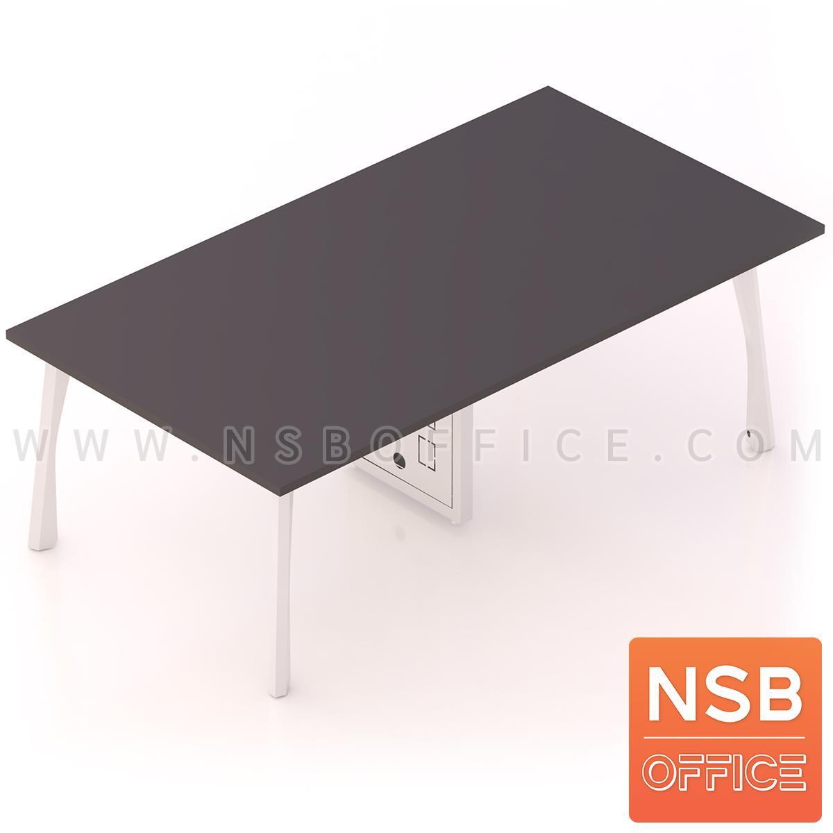 A05A193:โต๊ะประชุมทรงสี่เหลี่ยม  รุ่น Kelland (เคลแลนด์) ขนาด 240W cm. ขาเหล็กสีขาว