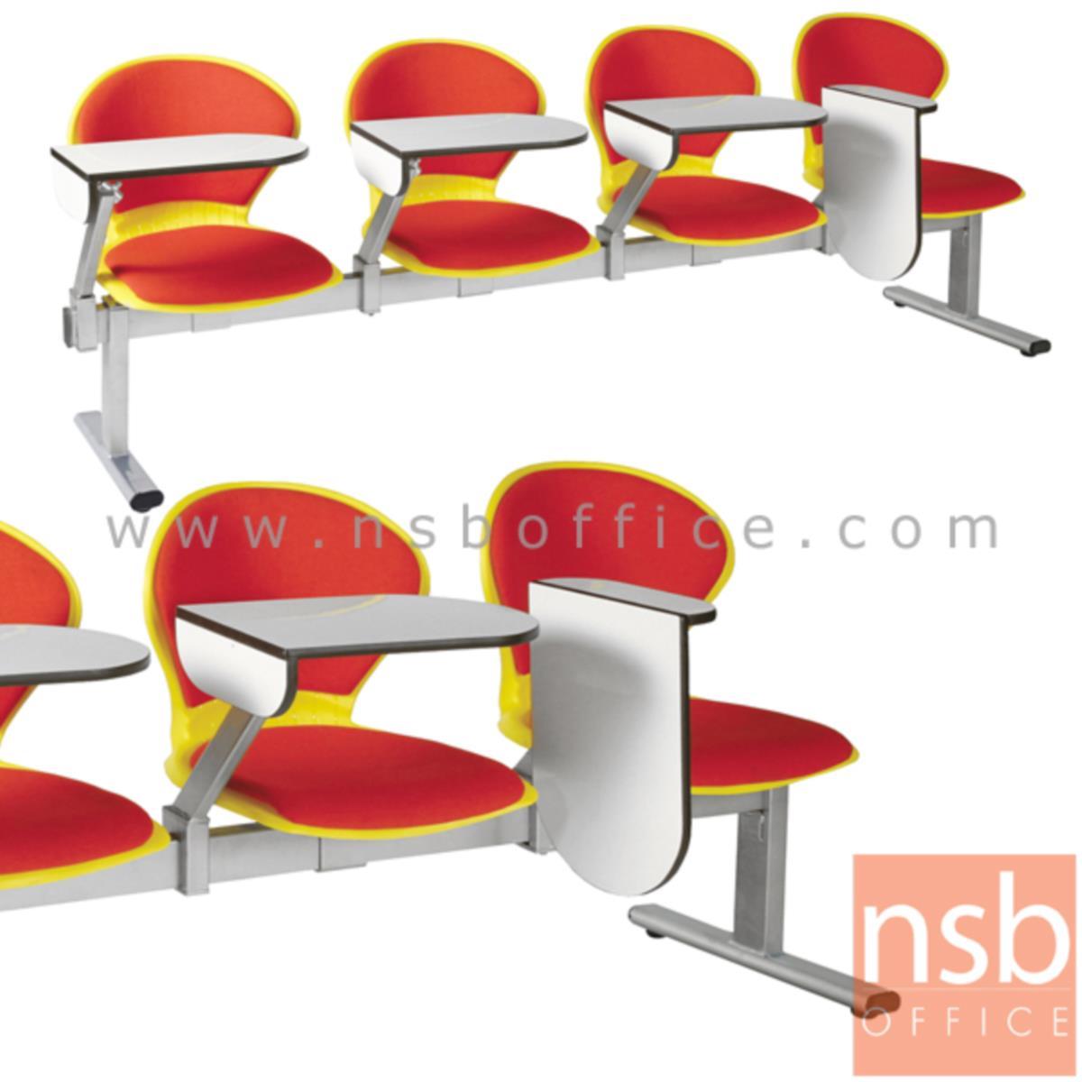 B17A026:เก้าอี้เลคเชอร์แถวเฟรมโพลี่หุ้มเบาะ รุ่น D576 2 ,3 และ 4 ที่นั่ง ขาเหล็กพ่นสีเทา