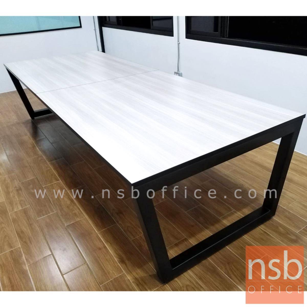 โต๊ะประชุมทรงสี่เหลี่ยม  ขนาด 200W ,240W ,300W ,360W 400W cm.  ขาเหล็กทรงคางหมู