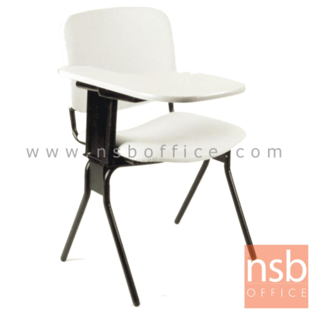 B07A042:เก้าอี้เลคเชอร์หุ้มหนังเทียม (PVC) รุ่น Derwent (เดอเวนท์) ขาเหล็กพ่นดำ