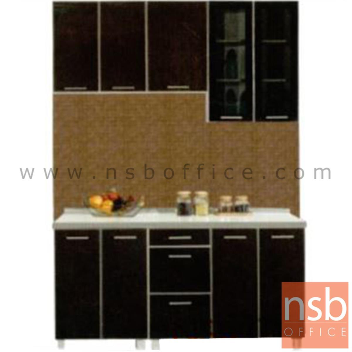 K01A024:ชุดตู้ครัวหน้าเรียบ 160 cm. รุ่น Darigold-160H  พร้อมตู้แขวนลอย