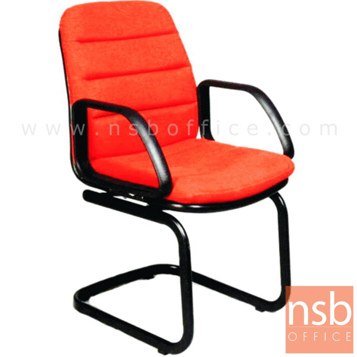 B04A122:เก้าอี้รับแขกขาตัวซี รุ่น CH-25798  ขาเหล็กพ่นดำ