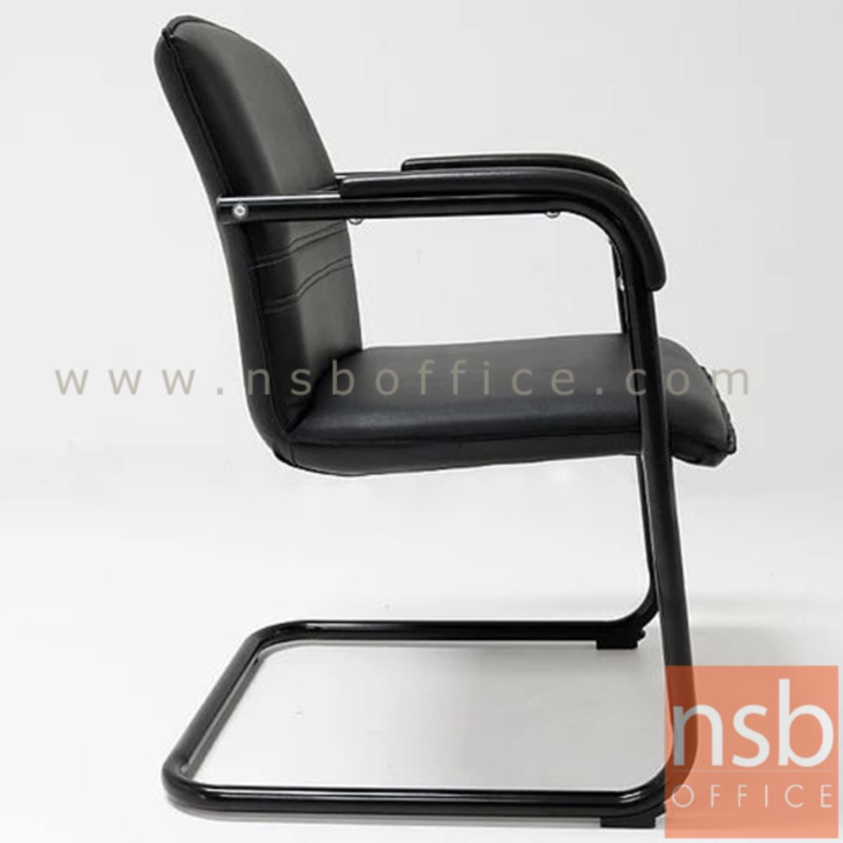 เก้าอี้รับแขกขาตัวซี รุ่น Fermi (แฟร์มี)  ขาเหล็กพ่นดำ