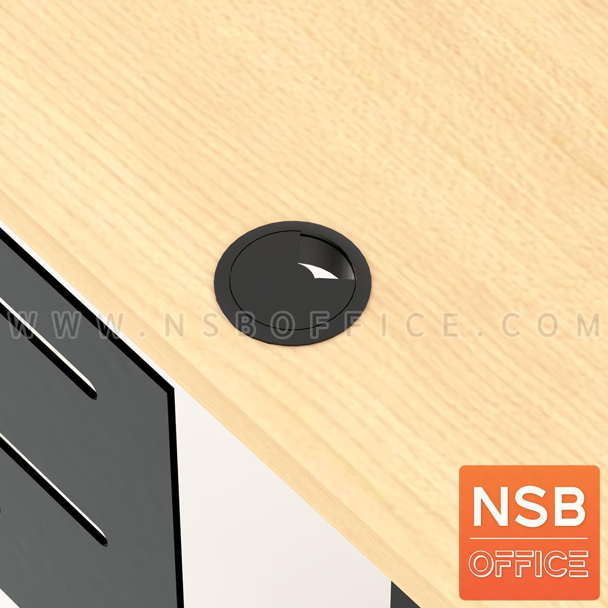 โต๊ะทำงานมีลิ้นชักข้าง รุ่น Vestro (เวสโทร) ขนาด 120W*60D cm. พร้อมบังตาเหล็ก ตัวเก็บสายไฟรุ่น A04A049