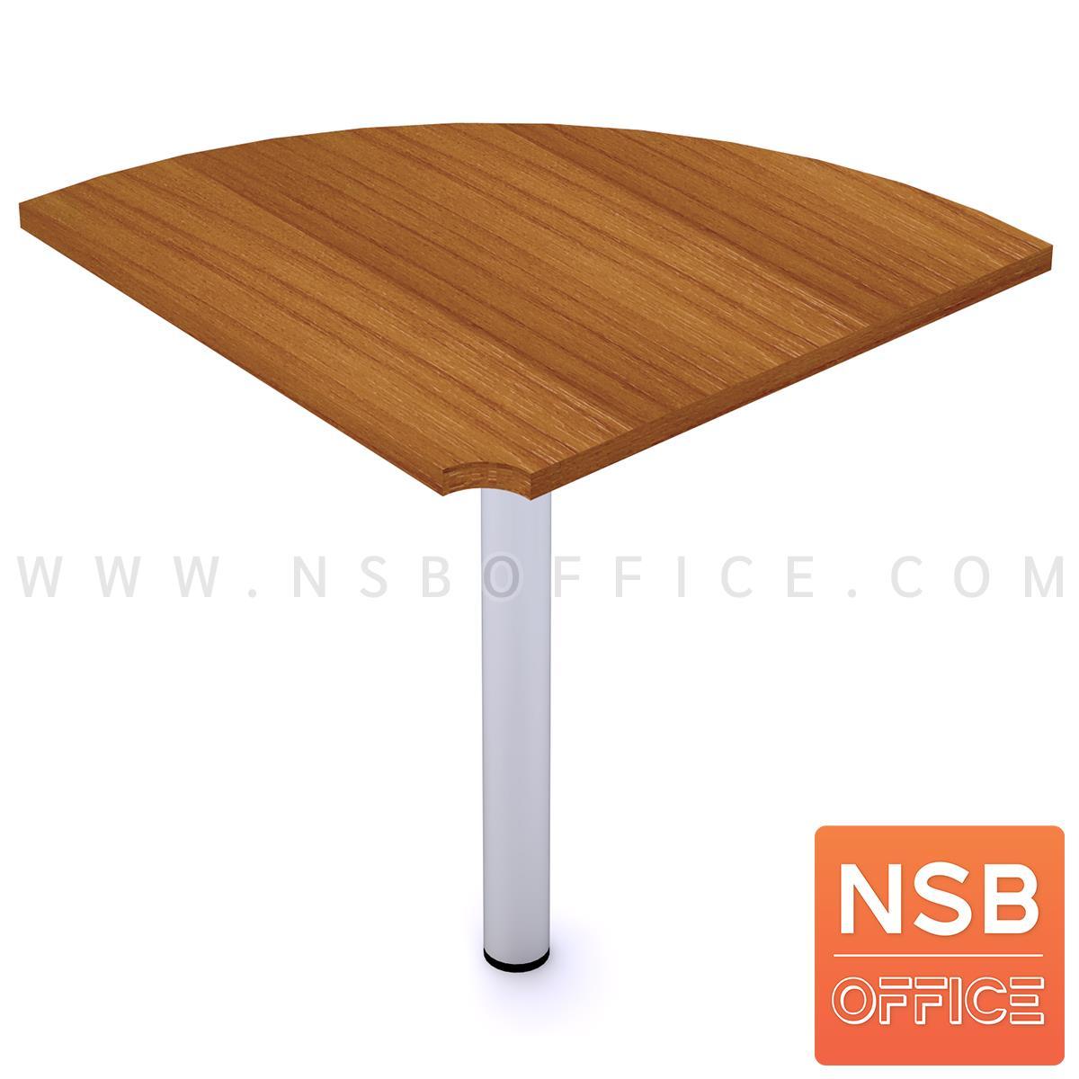 โต๊ะเข้ามุมทรงโค้ง  ขนาด R60 cm.   เมลามีน ขากลมโครเมี่ยม