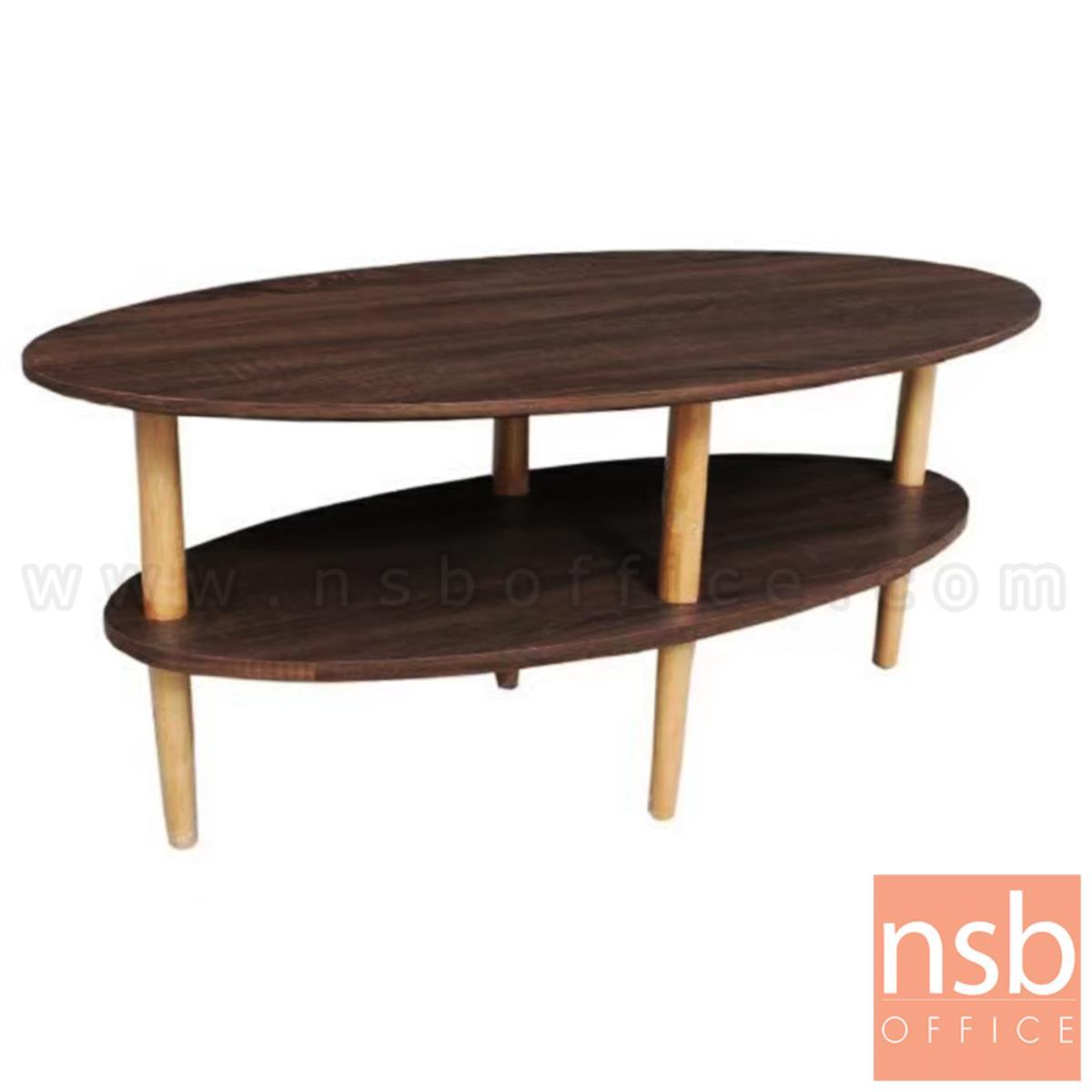 B13A292:โต๊ะกลางไม้ลามิเนต รุ่น Giannis (เกนนิส) ขนาด 90W cm. ขาไม้