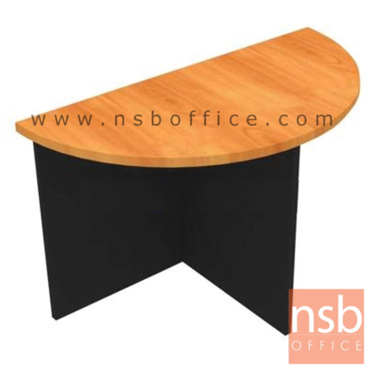 A05A042:โต๊ะเข้ามุมครึ่งวงกลม รุ่น Culber ขนาด Di120 ,Di150 cm. เมลามีน สีเชอร์รี่ดำ