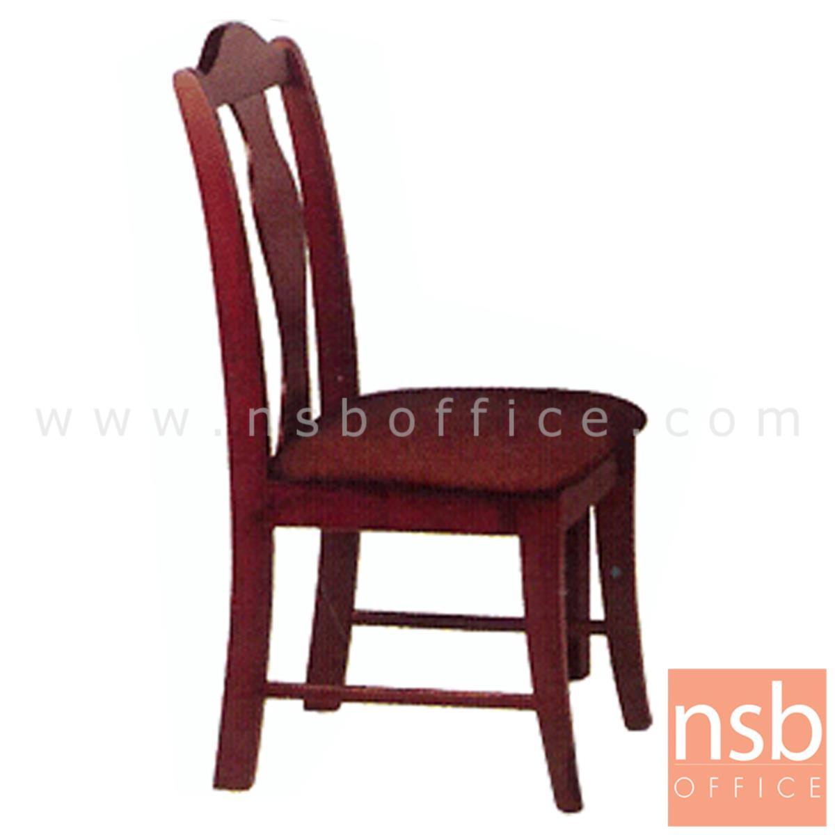 G14A043:เก้าอี้ไม้ยางพาราที่นั่งหุ้มหนังเทียม  รุ่น Webster (เว็บสเตอร์) ขาไม้