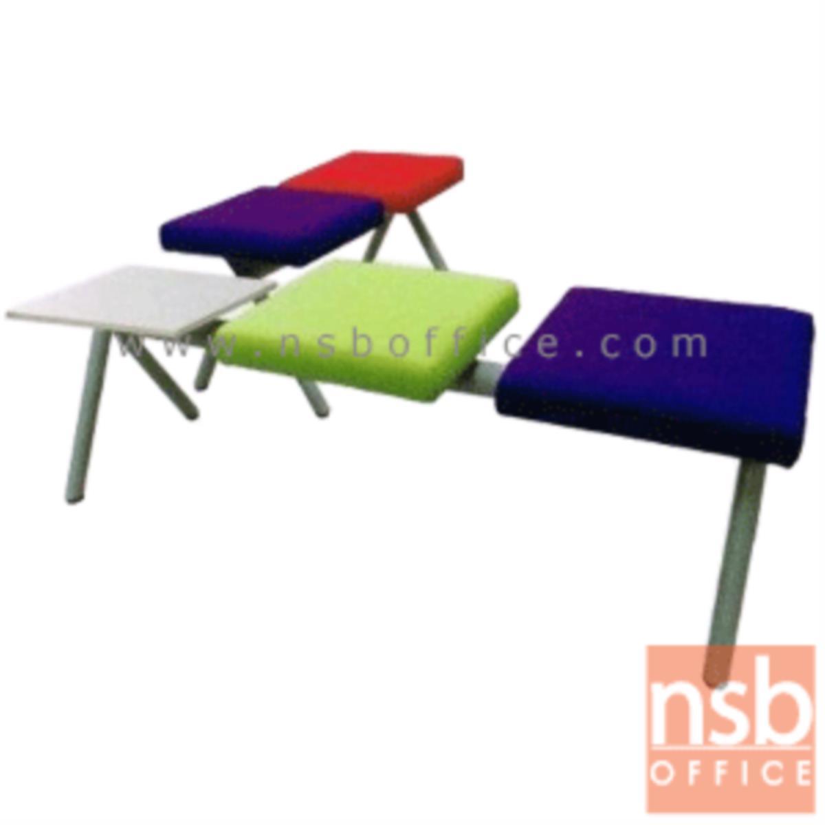 เก้าอี้นั่งคอยหุ้มหนังเทียม รุ่น Magnus (แม็กนัส) 2 ,3 ที่นั่ง ขนาด 91W ,141W cm. ไม่มีพนักพิง ขาเหล็ก