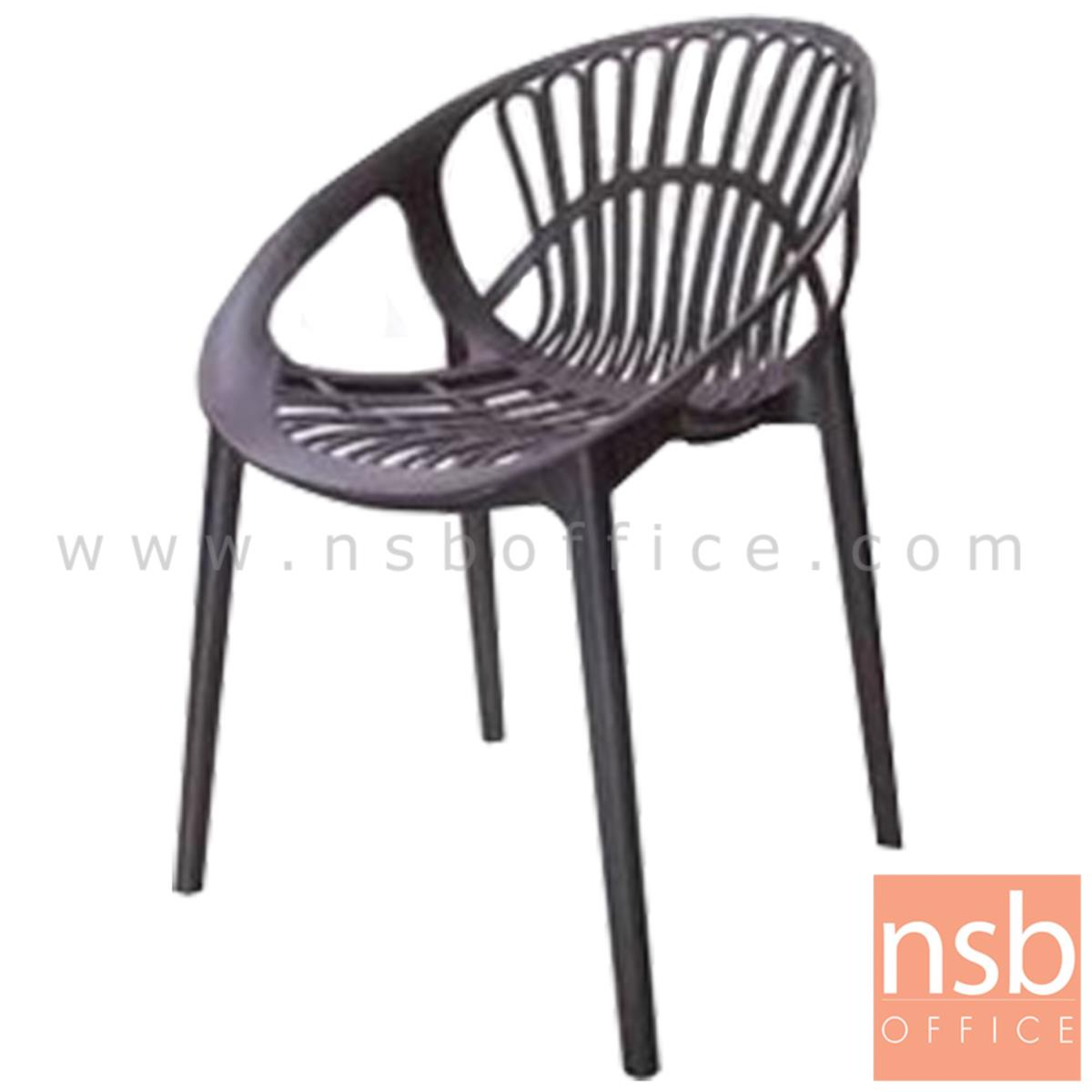 B11A040:เก้าอี้โมเดิร์นพลาสติกล้วน รุ่น DOLPHIN (ดอลฟิน) ขนาด 48W cm.