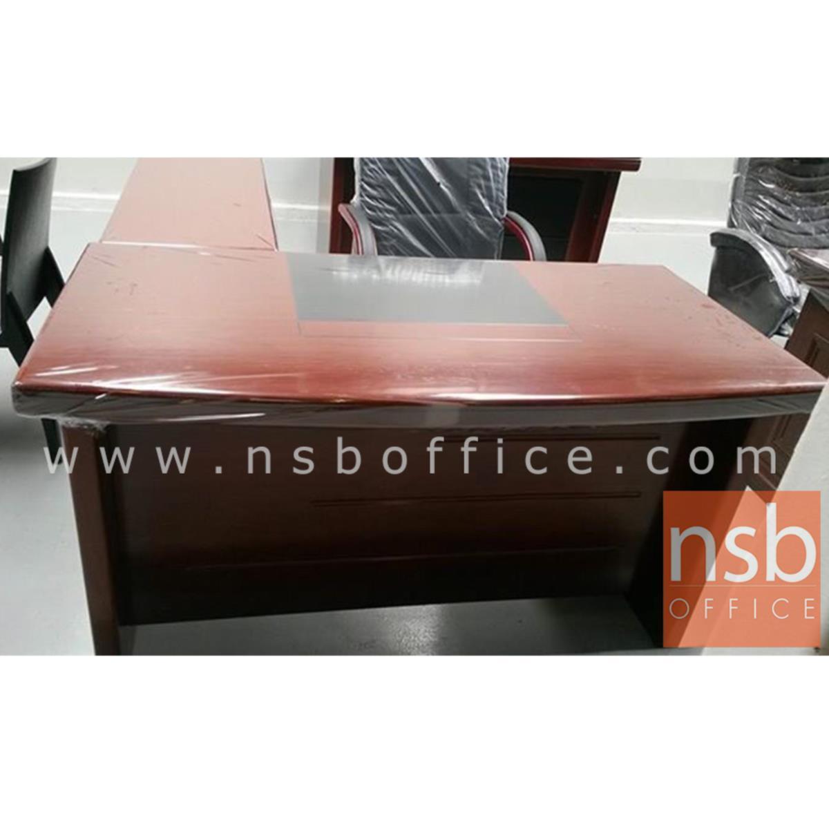 โต๊ะผู้บริหารตัวแอล 4 ลิ้นชัก  รุ่น Flourish (ฟลอริช) ขนาด 140W cm. พร้อมตู้ข้าง