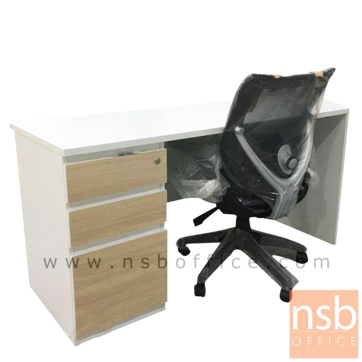 A13A201:โต๊ะทำงาน 3 ลิ้นชักบานเพ่  ขนาด 100W ,120W ,135W ,150W cm.  เมลามีน