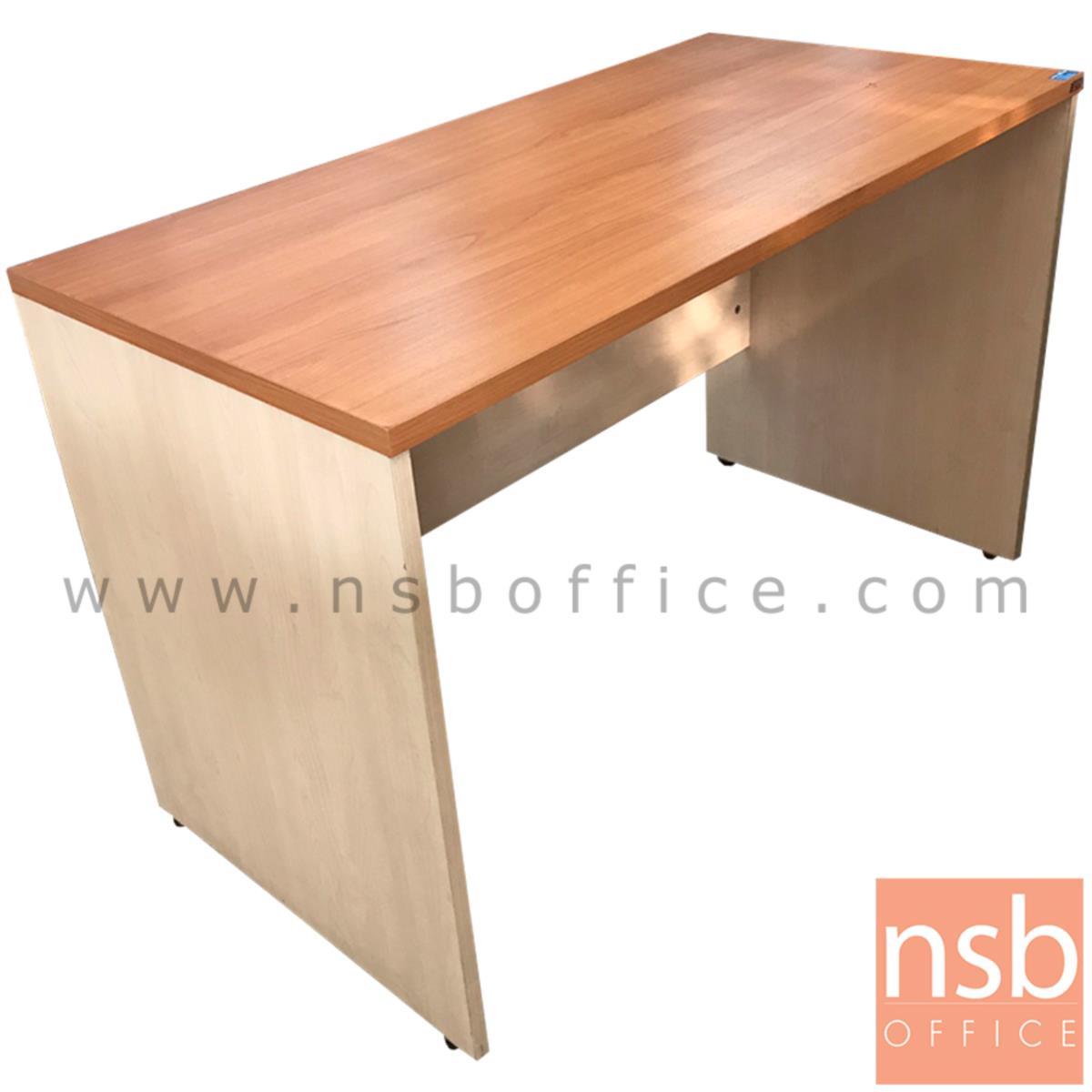 โต๊ะทำงานโล่ง  ขนาด 120W*76H cm. เมลามีน