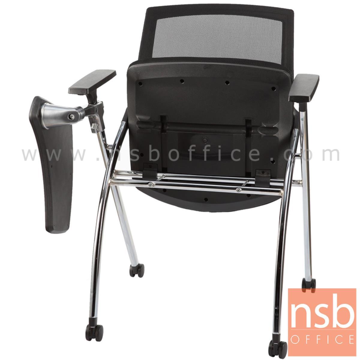 B07A096:เก้าอี้เลคเชอร์หลังเน็ตล้อเลื่อน รุ่น ATHENA (อาทีน่า)  ขาเหล็ก