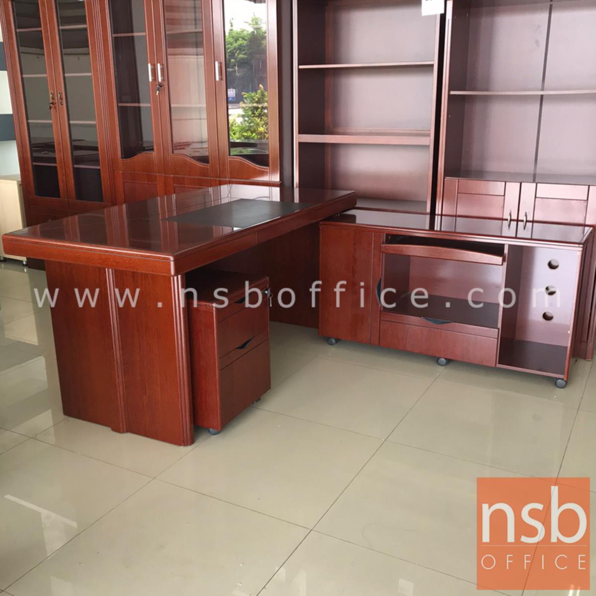 โต๊ะผู้บริหารตัวแอล  รุ่น Judith (จูดิธ ) ขนาด 160W cm. พร้อมโต๊ะข้างและตู้