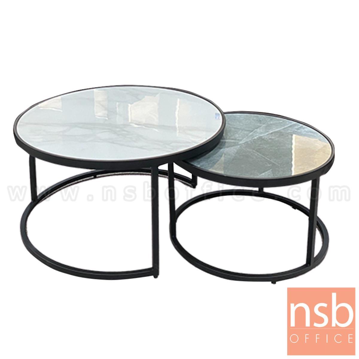 B13A272:โต๊ะกลาง  รุ่น Amarissa (อัมริสา) ท็อปลายหินอ่อน